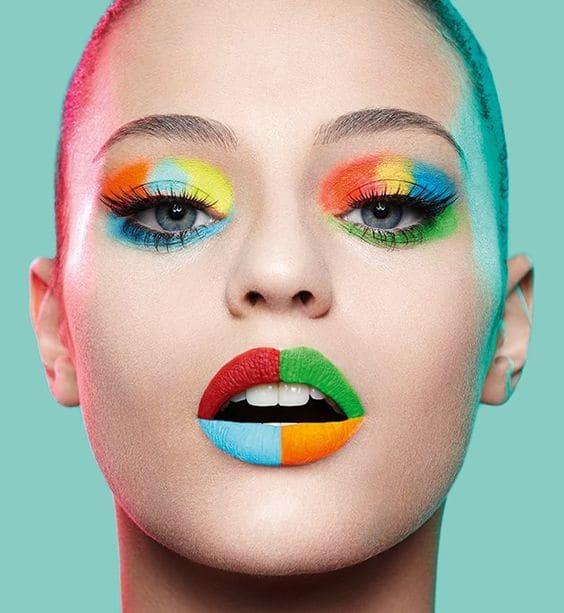 rainbow makeup ideas � natinstablog